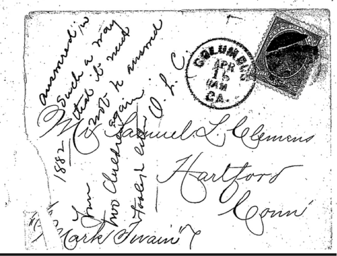 Claude Hope and Johnny Bright to SLC, 14 April 1882, (UCLC 41249) Reproduced with permission. Further reproduction without express written permission is prohibited.
